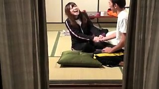 Japanese Young Couple Window Spyied Voyeur