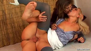 Wonderful threesome with Tatiana Milovani and one more slut
