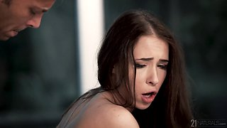 Smoking hot brunette Nata Ocean gives her head and gets fucked in different positions