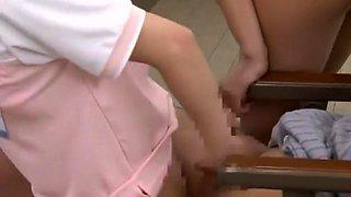 Horny Japanese girl Rei Mizuna in Hottest Nurse, Rimming JAV video