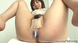 Azusa Nagasawa hot Asian milf gets anal penetration and a gaping hole