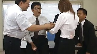 Asian secretary from Tokyo with ass milk
