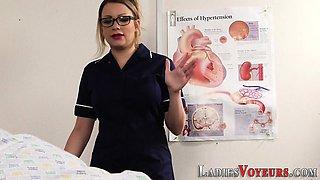 Busty femdom nurse judges