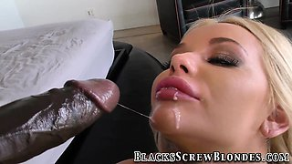 Blonde gets bbc cumshot