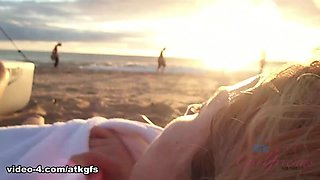 Haley Reed in Haley gets very close to the turtles when she swims with them. - ATKGirlfriends