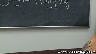 InnocentHigh Perky tits schoolgirl teen fucked facialized