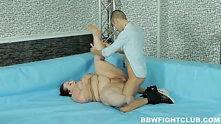 Extreme BBW wrestling with lesbo and hardcore rounds