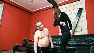Hungarian Brunette Face Slapping Femdom