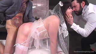 bride takes as many dicks as she can before getting married