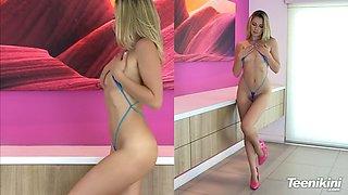 nicole in criss cross bikini