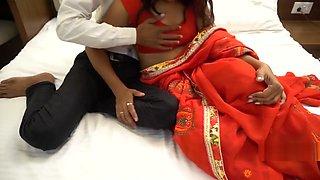 Indian Couple First Wedding Night Sex Enjoy