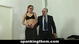 Secretary punished for being lazy