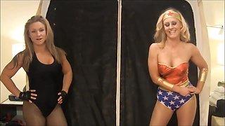 Superhero Pantyhose Wrestling