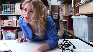 Thief gets punished by fucking Haley Reed, in her office