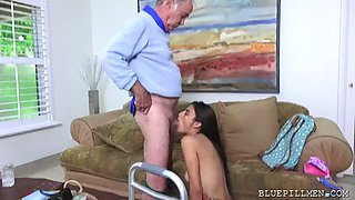 two geezers make porn in nursing house with young michelle martinez