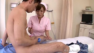 Seductive Asian Nurse In Sexy Lingerie Yelling As She Gets Fingered