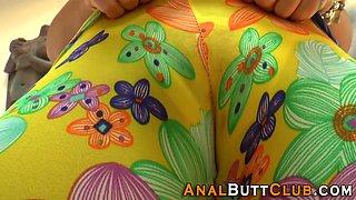 Kinky slut in panties