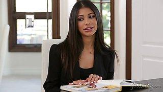 Jelena Jensen and her latina student Veronica Rodriguez