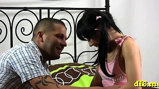 Hot defloration with a horny teen getting her 1st jock