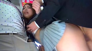 SW-257 Massaging Buttocks Close Contact With Packed Bus
