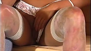 Insatiable classic redhead German chick in the sauna