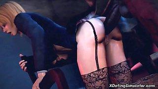 Amazing 3D MILF blowjob on big dick