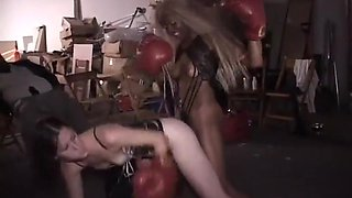 Boxing Babes Fighting in Skimpy Lingerie