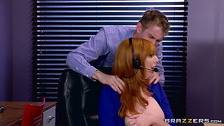Office seduction makes Lauren ready for the biggest cock of her life