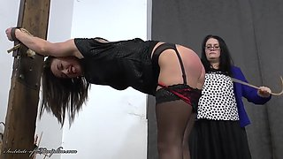 Prostitute caned at the post