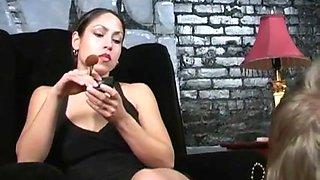 Mistress playing