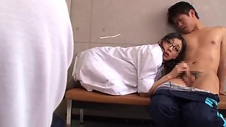 Ichiki Miho - De Horny Nursing Teaching Theory Of M Cup White Coat To Commit Boys - School Nurse