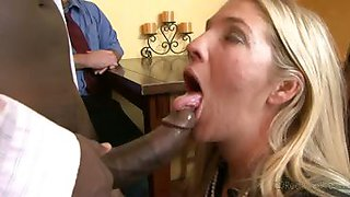 Husband makes his wife slut it up with his boss to get raise