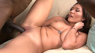 Monster black dick feels so good in wet and tight pussy of Mena Li