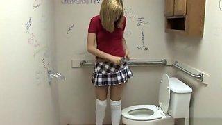 Naughty Blonde School Girl