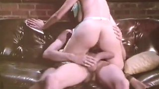 Vintage retro big cock blowjob cumshot facial lingerie suck