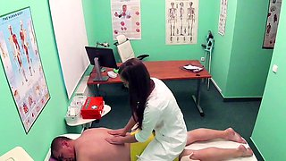 Fake Hospital Masseuse hot wet pussy and squirting