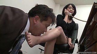 Smoking hot Nijikawa Sora gets talked into playing with his dong
