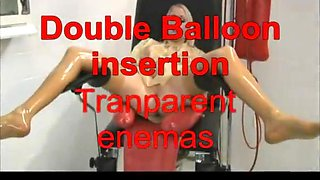 Doule balloon insertion  transparent enemas