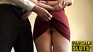 Nasty submissive slut actually loves being a stupid slave