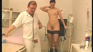 medical examination turns into a blowjob session