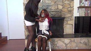 tied ebony secretary