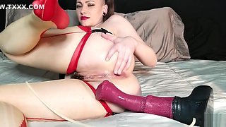 AdalynnX - Thick Anal Creampie With Chance Flared Dildo