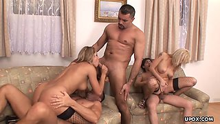 Facial, a foursome and a sweet ass fuck session