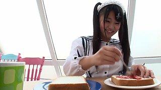 Hottest Japanese girl Airi Satou in Crazy maid, college JAV movie