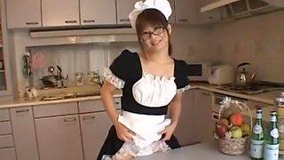 Fabulous Japanese whore in Incredible Maid, Dildos/Toys JAV scene