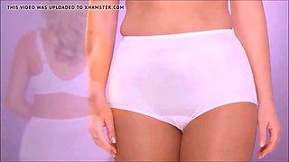 Plus-Size Panty Model