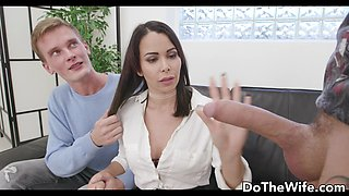 Shy German Wife Jessy Jey Kisses Cuckold After Eating a Strangers Creampie