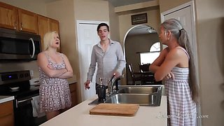 Freeze n Shut Up! - Threesome Taboo Roleplay