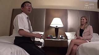Young Blonde Teen With An Old Man