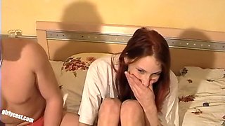 Natascha&#039s anal defloration cuckold has to watch